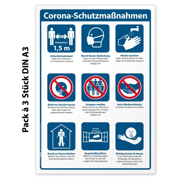 Corona-Schutzmaßnahmen Aufkleber