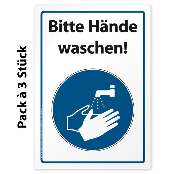 """Corona-Hinweisaufkleber """"Bitte Hände waschen"""""""