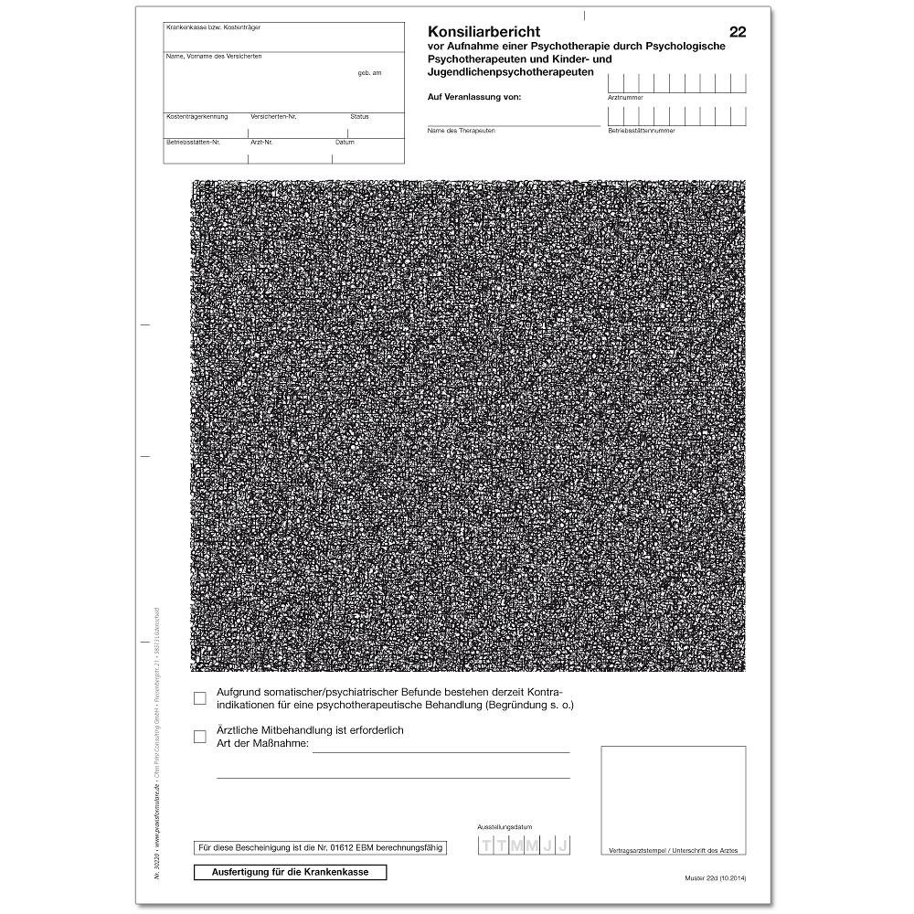 Konsiliarbericht Vor Aufnahme Einer Psychotherapie Muster 22 8 2